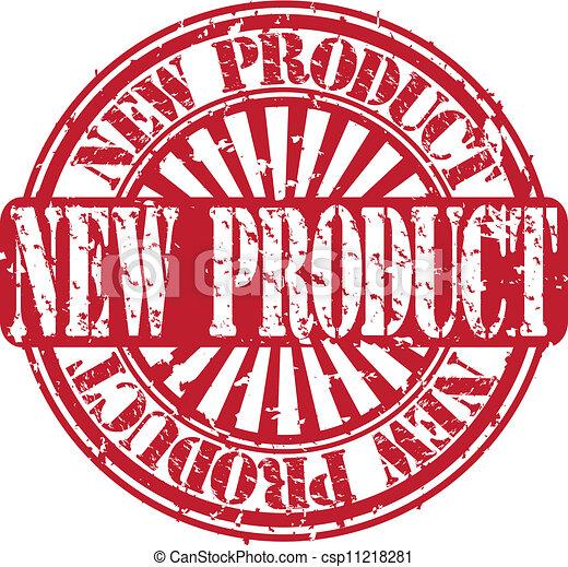 nieuw product, vector, grunge, postzegel - csp11218281