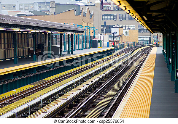 nieuw, stad, york, metro - csp25576054
