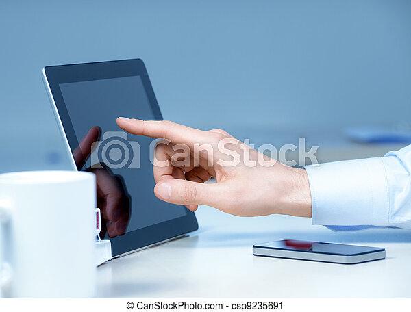 nieuw, technologieën, werkplaats - csp9235691