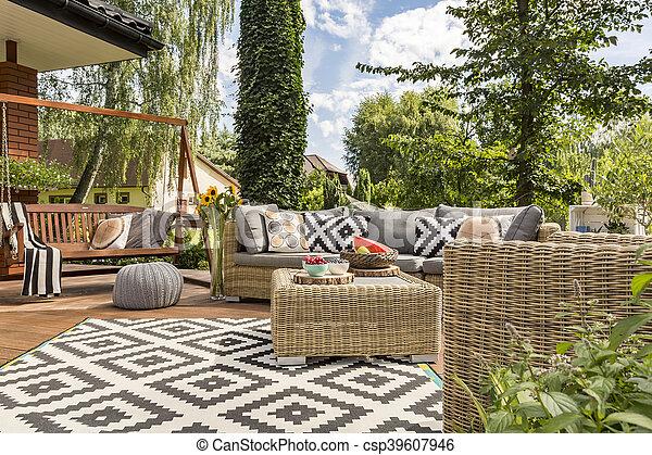 Nieuw villa terras idee. villa model comfortabel rattan nieuw