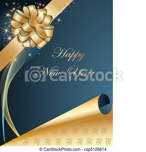 nieuw, vrolijke , achtergrond, jaar - csp5126614