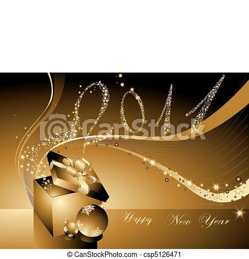 nieuw, vrolijke , achtergrond, jaar - csp5126471