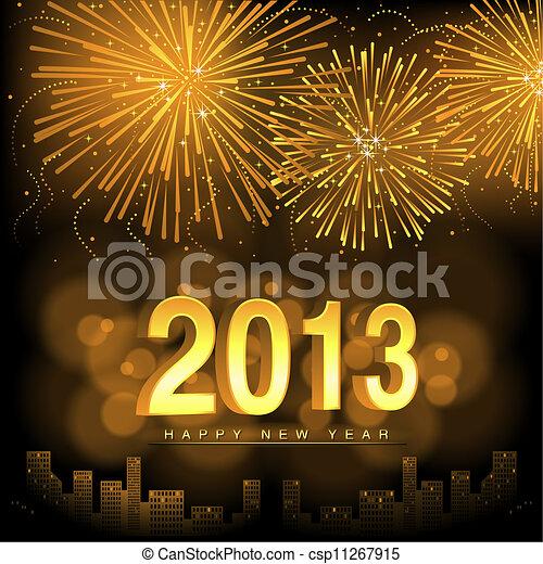 nieuw, vrolijke , jaar - csp11267915