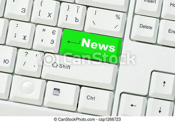 nieuws, computer toetsenbord - csp1266723