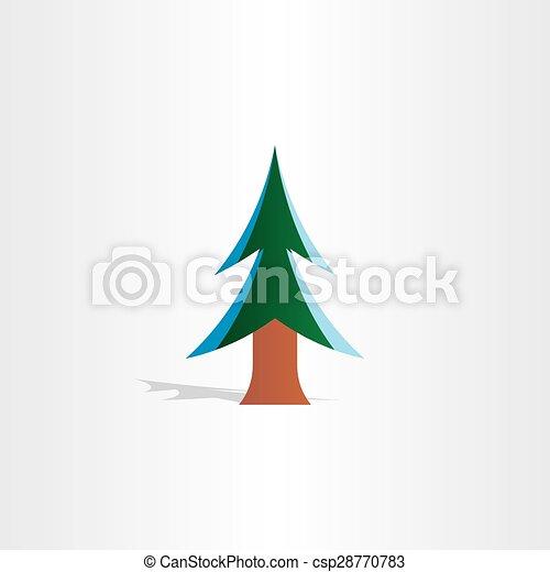 Árbol de Navidad con icono de nieve - csp28770783
