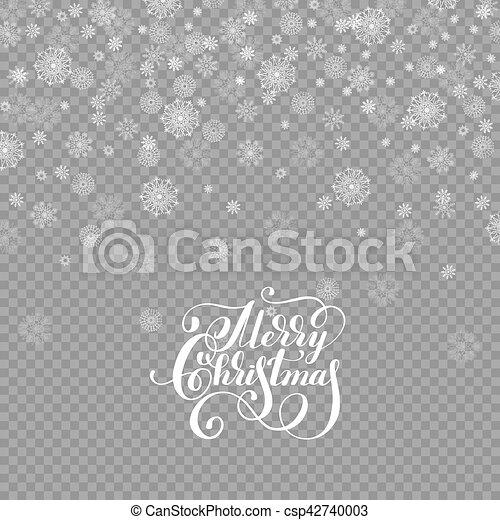 La nieve de decoración de otoño está aislada en el fondo transparente - csp42740003