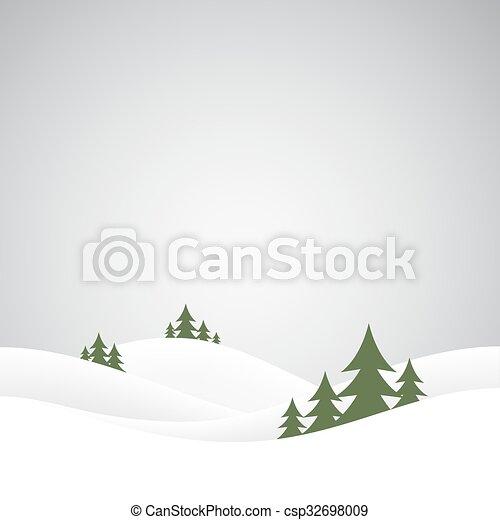 Colinas de nieve navideñas - csp32698009