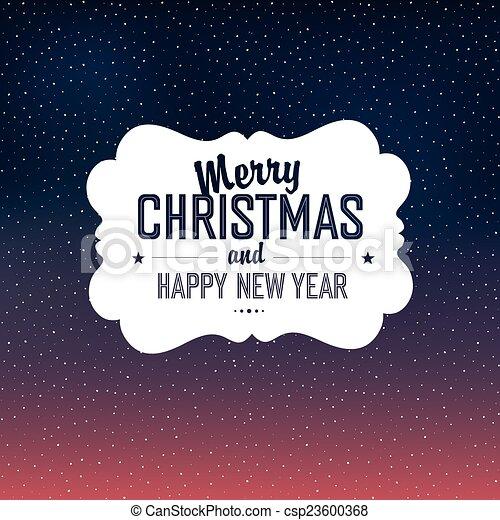 Feliz diseño de tarjetas de Navidad con antecedentes de nieve. Vector - csp23600368