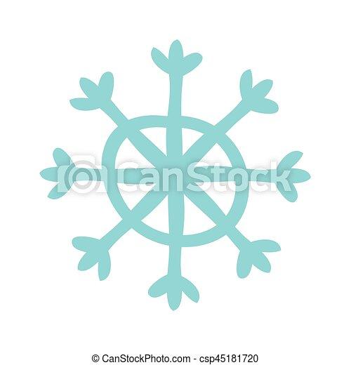 icono de nieve de Navidad - csp45181720