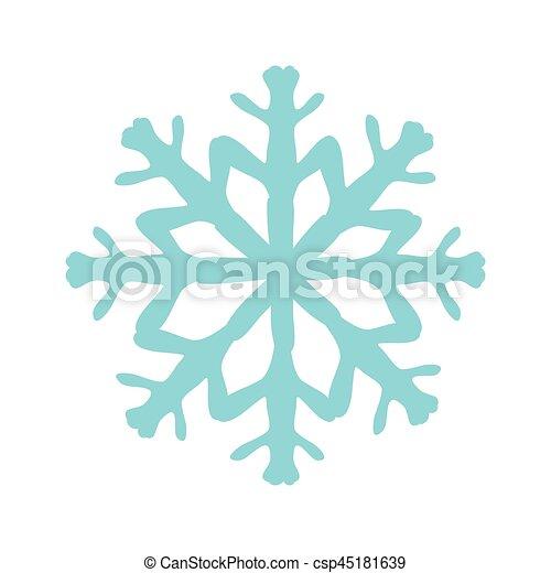 icono de nieve de Navidad - csp45181639