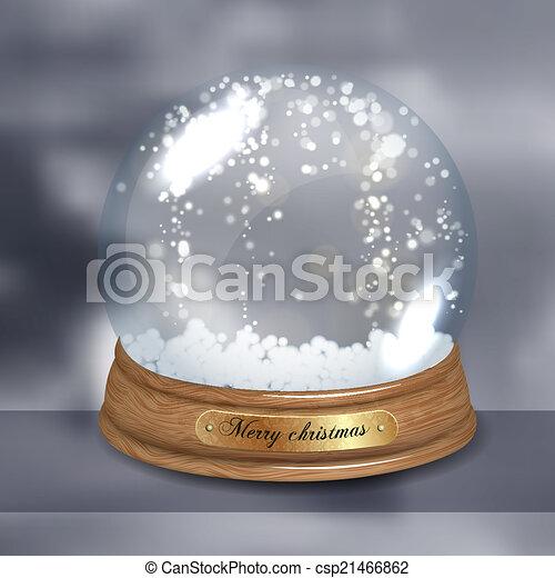 Una cúpula de nieve vacía - csp21466862