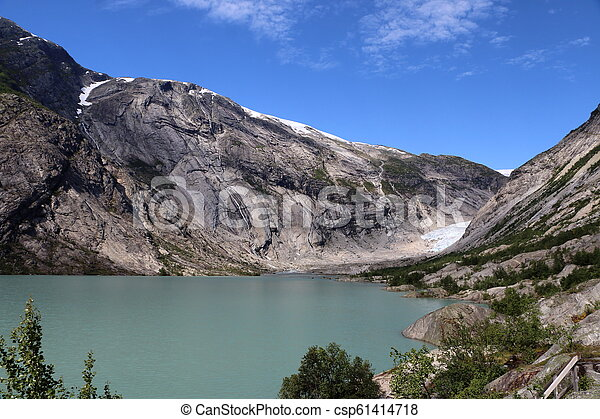 Nigardsbreen glacier in Norway - csp61414718