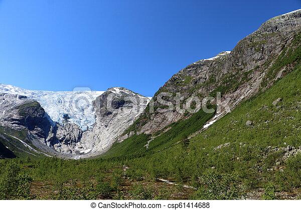 Nigardsbreen glacier in Norway - csp61414688