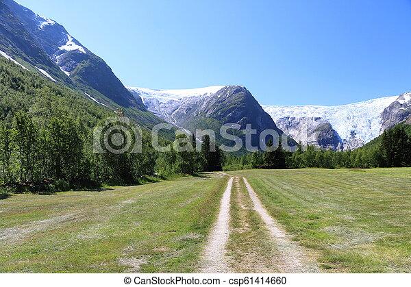 Nigardsbreen glacier in Norway - csp61414660