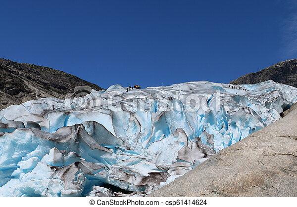Nigardsbreen glacier in Norway - csp61414624