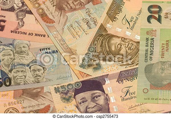nigeria., naira, monnaie - csp2755473