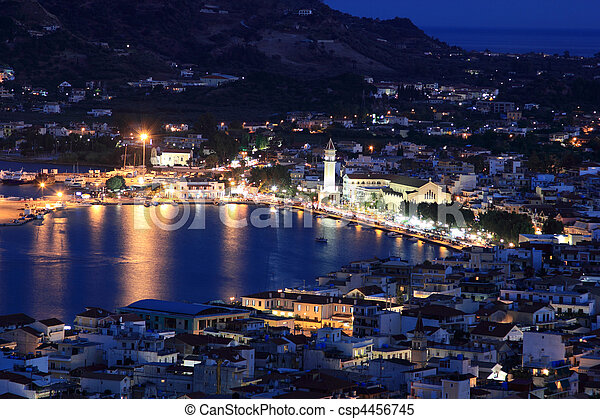 Nigh view on Zante town - csp4456745
