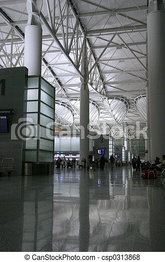 Night Airport 1 - csp0313868