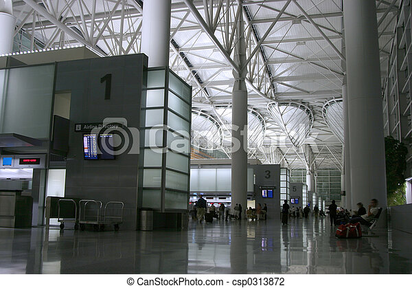 Night Airport 2 - csp0313872