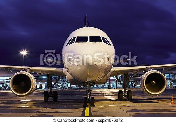 Night airport - csp24076072
