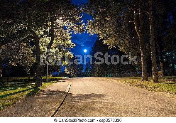 Night alley  - csp3578336