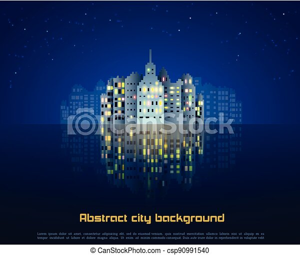 Night city abstract background - csp90991540