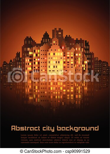 Night city abstract background - csp90991529