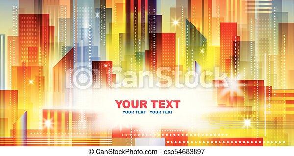 Night city background - csp54683897