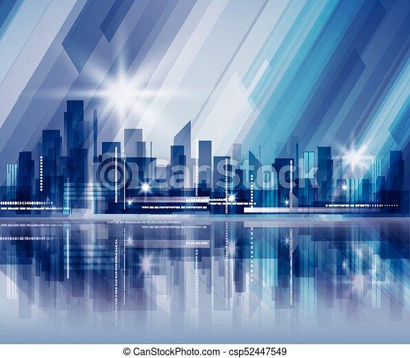 Night city background - csp52447549