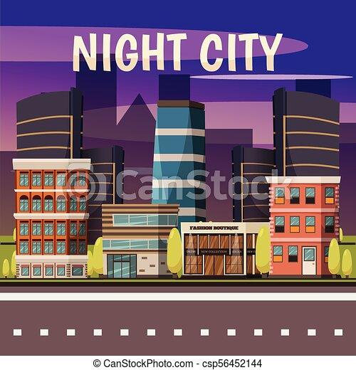 Night City Background - csp56452144
