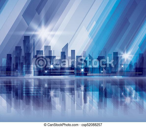 Night city background - csp52088257