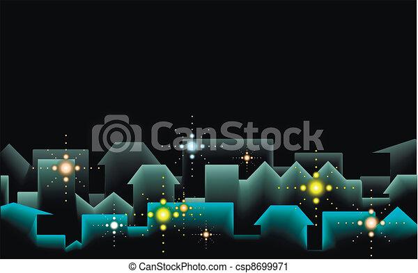 Night city background - csp8699971