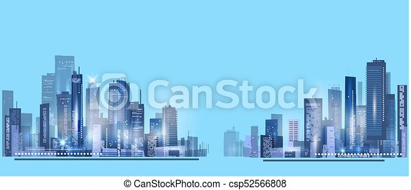 Night city background - csp52566808