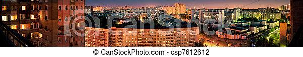 Night city panorama - csp7612612