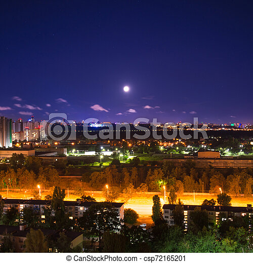 Night city panorama - csp72165201
