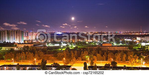 Night city panorama - csp72165202