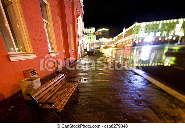 Night city scene - csp8279048