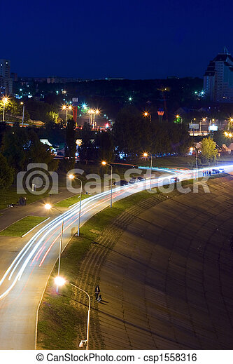 Night city scene - csp1558316