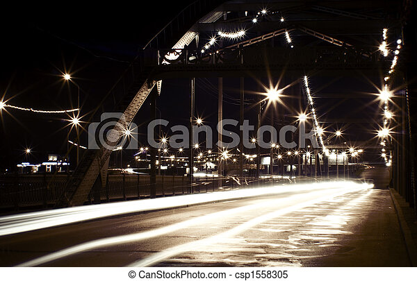 Night city scene - csp1558305