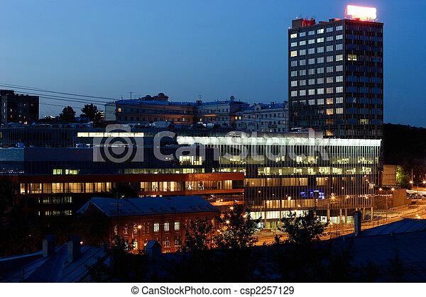 Night city scene - csp2257129