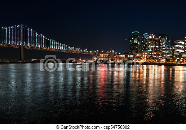 Night cityscape of San Francisco - csp54756302