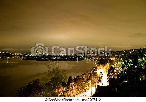 Night Cityscape - csp0797412