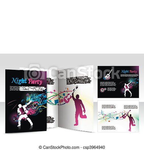 night club brochure design  - csp3964940