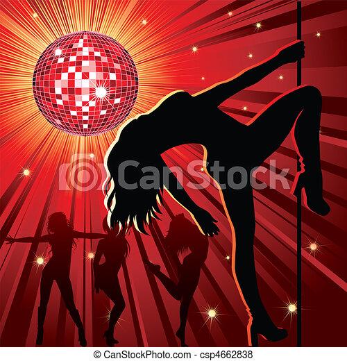 night-club, pessoas, dançar - csp4662838