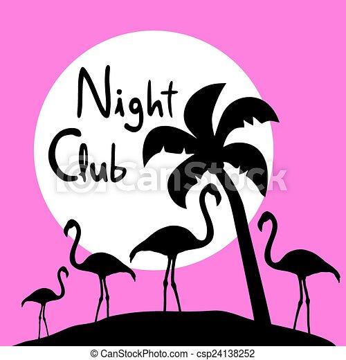 Night club symbol - csp24138252