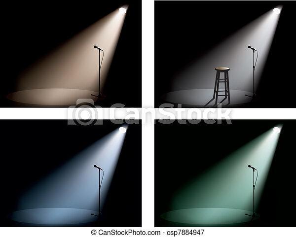 night club with spotlight - csp7884947