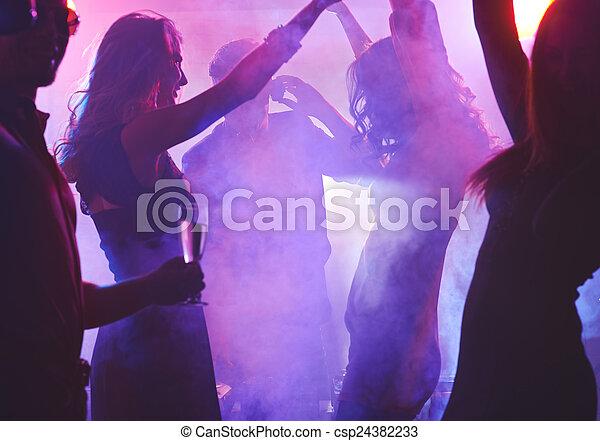 Night dancing - csp24382233