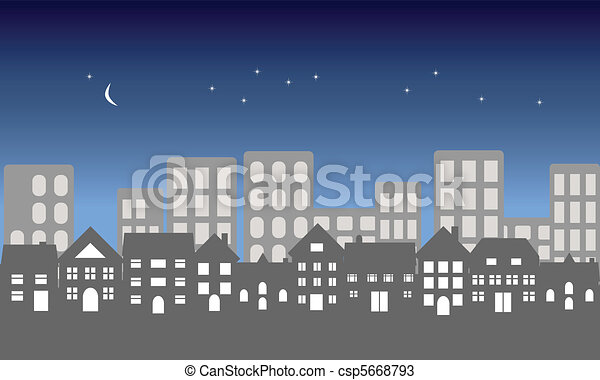 Night in the city - csp5668793