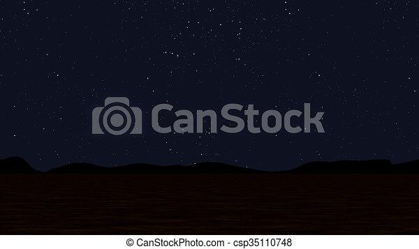 Night landscape - csp35110748