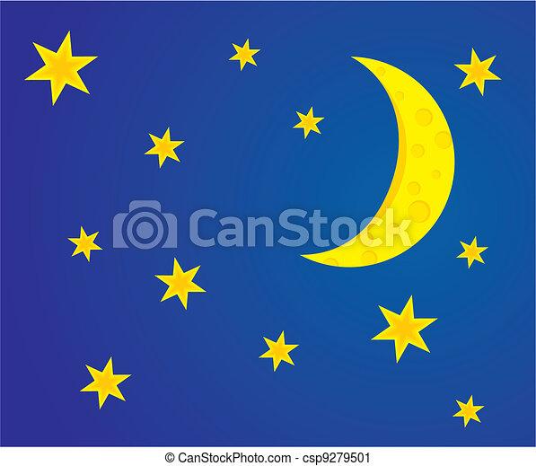 night moon stars